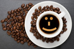 Cup of coffee with smile Stock Photo
