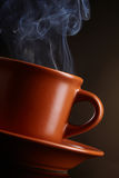 Cup of coffee with smoke Royalty Free Stock Photo