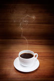 Cup of coffee with smoke Royalty Free Stock Image
