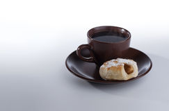Cup of coffee and snack Stock Photo