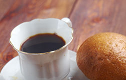 Cup of coffee and snack Royalty Free Stock Images