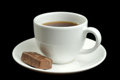 Cup of coffee and some chocolate Royalty Free Stock Photography