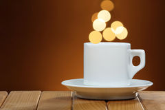 Cup of coffee with space for text Royalty Free Stock Images