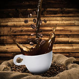 Cup of Coffee Splash Royalty Free Stock Image