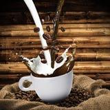 Cup of Coffee Splash Stock Photo