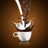 Cup of Coffee Splash Stock Image