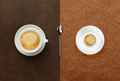 Cup of coffee with spoon Royalty Free Stock Photography