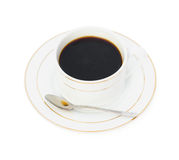 Cup of coffee and spoon Stock Image