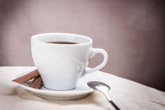 Cup of coffee spoon Royalty Free Stock Photography