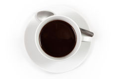 Cup of coffee with spoon Royalty Free Stock Image