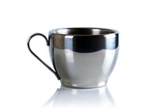 Cup coffee stainless steel. Stock Photos
