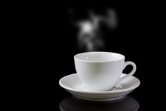 Cup of coffee with steam Royalty Free Stock Photography