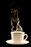 Cup coffee steam Royalty Free Stock Image