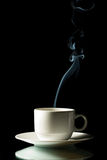 Cup of coffee with steam Royalty Free Stock Images