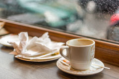 After a cup of coffee - still waiting Stock Image