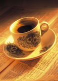 A cup of coffee on stock index Stock Photography