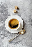 Cup of coffee on a stone background Stock Images
