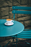 Cup of coffee in street cafe Royalty Free Stock Images