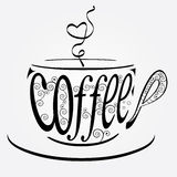 Cup of coffee stylized Stock Images