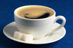 Cup of coffee and sugar Stock Images