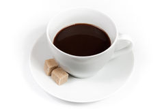 Cup of coffee with sugar Royalty Free Stock Photography