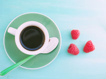 Cup of coffee in summer Stock Images