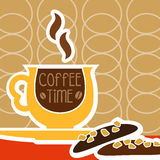 Cup of coffee and sweet Royalty Free Stock Images
