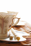 Cup of coffee with sweets Royalty Free Stock Image