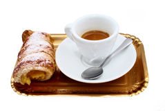 Cup of coffee with sweets Stock Images