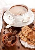 Cup of coffee and sweets Stock Photography