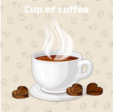Cup of coffee and sweets. Vector Icon. Royalty Free Stock Images