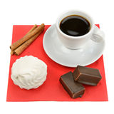 Cup of coffee and sweets Royalty Free Stock Photography