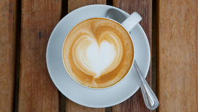 Cup of coffee. On table Royalty Free Stock Images