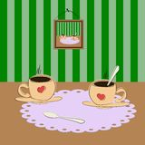 Cup of coffee on the table? Stock Image