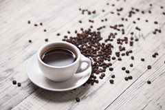 Cup of coffee. On the table Stock Photography