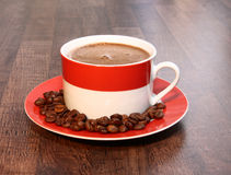 Cup of coffee. On the table Stock Images