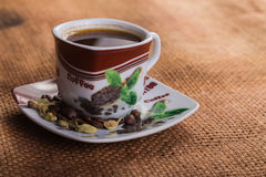 A cup of coffee on the table Stock Photo