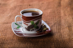 A cup of coffee on the table Royalty Free Stock Image