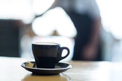 Cup of coffee on table Royalty Free Stock Photography