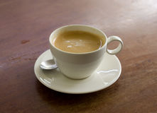 Cup of coffee on the table Royalty Free Stock Photography