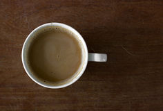 Cup of coffee on the table Stock Image