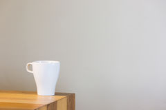 A cup of coffee on the table Royalty Free Stock Photography