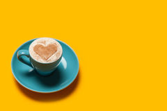Cup with coffee on a table. Stock Image
