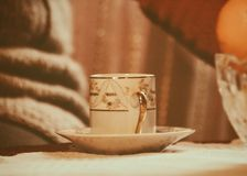 Cup with saucer Royalty Free Stock Images