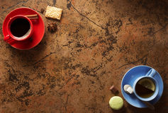 Cup of coffee and tea Royalty Free Stock Photography