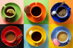 Cup of coffee, tea and cacao Royalty Free Stock Image
