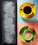 Cup of coffee and tea Royalty Free Stock Image
