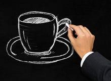 Cup of coffee or tea representing coffee break Stock Photo