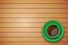 Cup of coffee or tea on the table dark wood Stock Photo