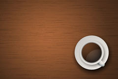 Cup of coffee or tea on the table dark wood Royalty Free Stock Image